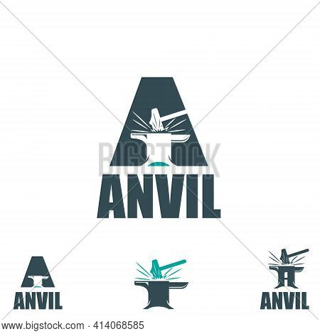 Anvil Letter Based A Typeface Logo Vector Illustration