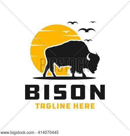 Bison Animal Modern Logo Design Your Company