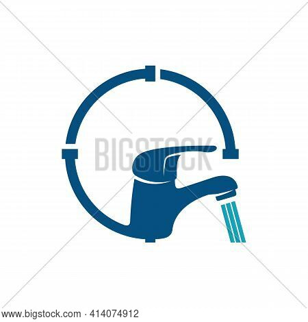 Plumbing Logo Design Vector Illustration, Creative Plumbing Logo Design Concept Template, Symbols Ic