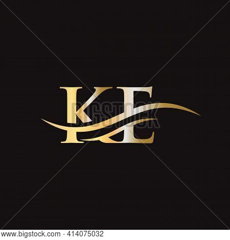 Ke Linked Logo For Business And Company Identity. Creative Letter Ke Logo Vector