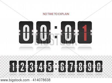 Last Chance Concept. Retro Score Board Clock. Vintage Flip Clock Time Counter Vector. Scoreboard Cou
