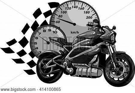 Design Of Motorcycle Racer Sport Vector Illustration