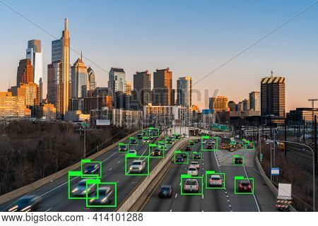 Artificial Intelligence For Deep Learning Technology Over The Philadelphia Pennsylvania Cityscape Wi