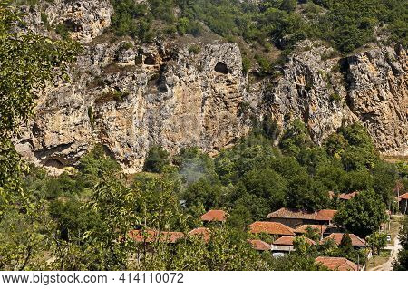 Nisovo, Bulgaria - June 06, 2009: View Of The Beautiful Village Of Nisovo, Bulgaria, Located Below,