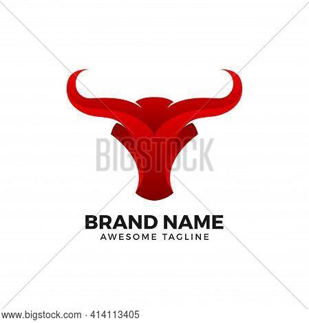 Abstract Bullhead. Abstract Bull Logo. Bull Vector. Bull Illustration. Bullhead Icon. Bull Mascot. A