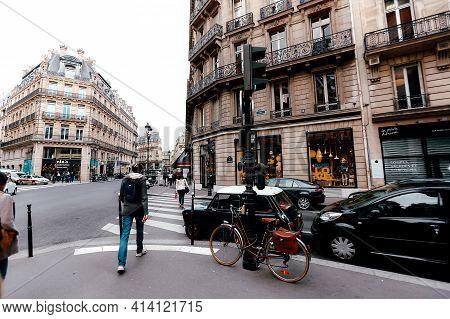 Paris, France - September 19 2016: Crossroads In Paris. High Quality Photo