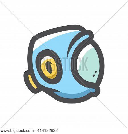 Kudo Helmet Head Protection Vector Icon Cartoon Illustration