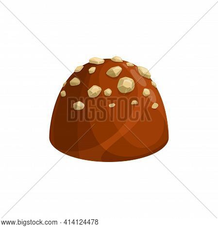 Chocolate Candy, Sweet Dessert And Confection Food Icon, Vector Truffle Praline Comfit. Chocolate Ca
