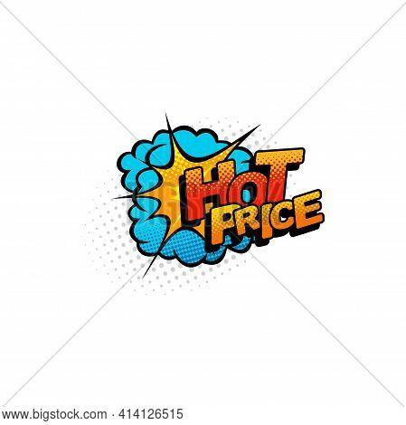 Hot Price Mega Wholesale Halftone Comic Cloud Burst Isolated Flat Cartoon Icon. Vector Boom Bang Exp