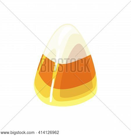 Marmalade Or Jelly Candy Isolated Three Color Sweet Candy. Vector Sweet Yellow Dessert, Tasty Carame