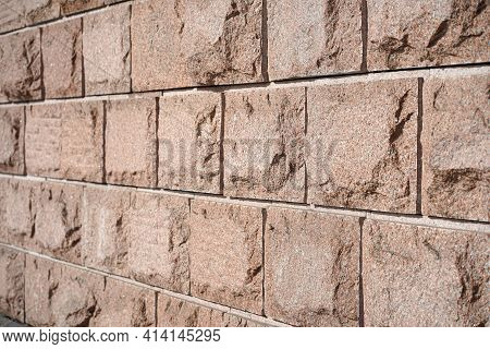 Stone Wall Or Floor Or Cladding Wall, Large Stone Tiles. Textured Stone Tiles Background Wallpaper
