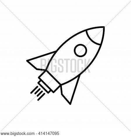 Rocket Icon Isolated On White Background. Rocket Icon In Trendy Design Style. Rocket Vector Icon Mod