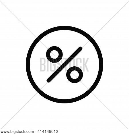 Percentage Icon Isolated On White Background. Percentage Icon In Trendy Design Style. Percentage Vec