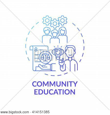 Community Education Concept Icon. Legal Services Categories. Community Education In Regard To Govern