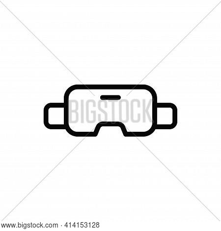 Vr Glasses Icon Isolated On White Background. Vr Glasses Icon In Trendy Design Style. Vr Glasses Vec