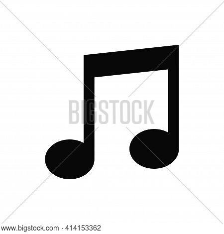 Music Icon Isolated On White Background. Music Icon In Trendy Design Style. Music Vector Icon Modern
