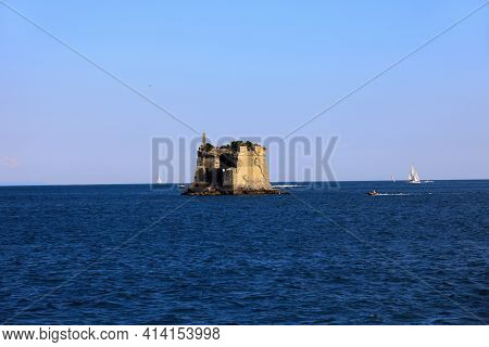 Portovenere ( Sp ), Italy - April 15, 2017: San Giovanni Battista Tower, Portovenere Gulf Of Poets,