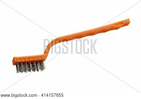 Plastic Steel Brush (with Clipping Path) Isolated On White Background