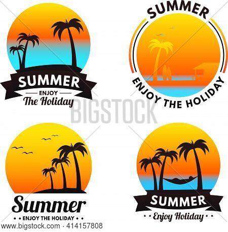 Flat Summer Labels