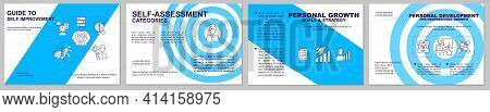 Guidance To Self-improvement Brochure Template. Career Growth. Flyer, Booklet, Leaflet Print, Cover