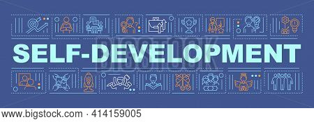 Self-development Word Concepts Banner. Personal Goals And Abilities Improvement. Infographics With L