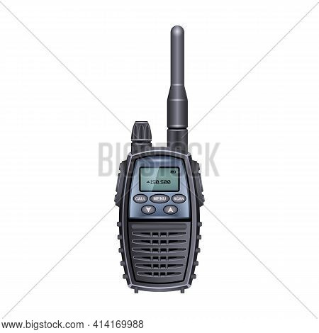 Walkie Talkie Vector Icon.realistic Vector Icon Isolated On White Background Walkie Talkie.