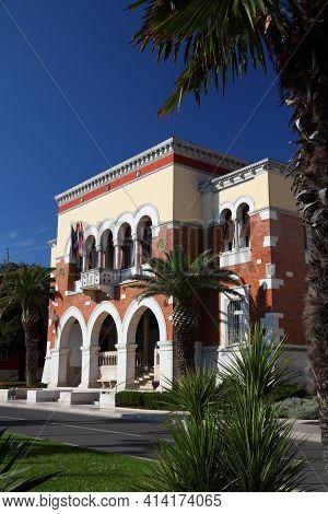 Porec Old Town In Istria, Croatia. Municipal Building.