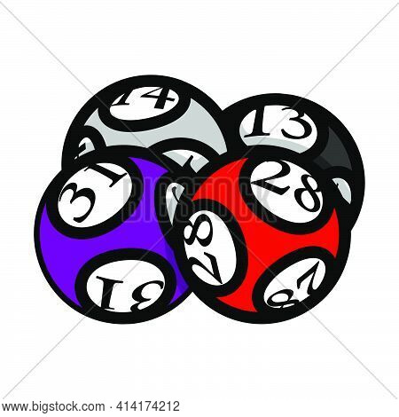 Lotto Balls Icon. Editable Bold Outline With Color Fill Design. Vector Illustration.