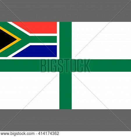Naval Ensign Of South Africa. Digital Reproduction. Vector.