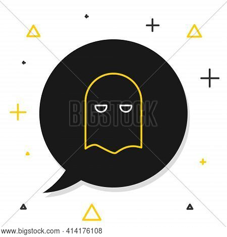 Line Executioner Mask Icon Isolated On White Background. Hangman, Torturer, Executor, Tormentor, But