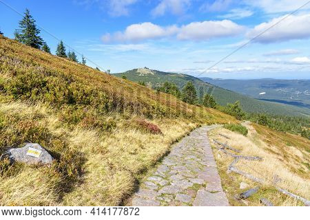 Trail To The Shelter Under Labski Szczyt Mountain In Polish Giant Mountains