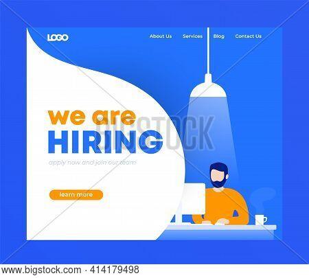 We Are Hiring Banner, Landing Page Design