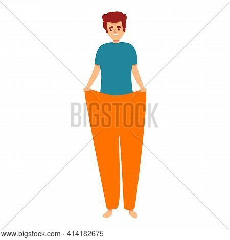 Slim Boy Icon. Cartoon Of Slim Boy Vector Icon For Web Design Isolated On White Background