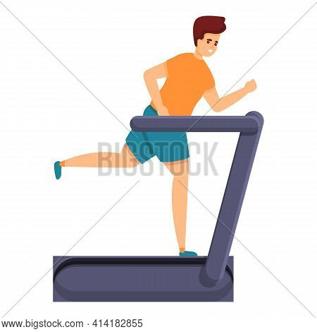 Exercise Slimming Icon. Cartoon Of Exercise Slimming Vector Icon For Web Design Isolated On White Ba