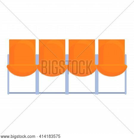 Airport Seats Icon. Cartoon Of Airport Seats Vector Icon For Web Design Isolated On White Background
