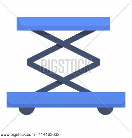 Baggage Cart Icon. Cartoon Of Baggage Cart Vector Icon For Web Design Isolated On White Background