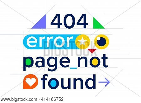 404 Error, Page Not Found, Color Website Template