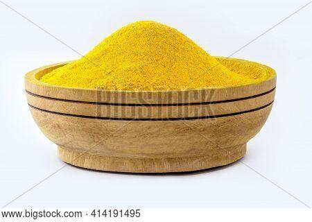 Bowl With Curry Powder, Turmeric Powder Spice, Ground Turmeric Powder