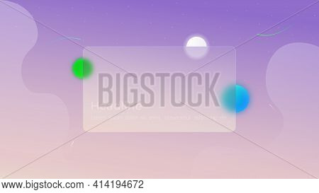 Vector Abstract Background. Concept, Infinite Universe. Light Background With Liquid Objects, Stars