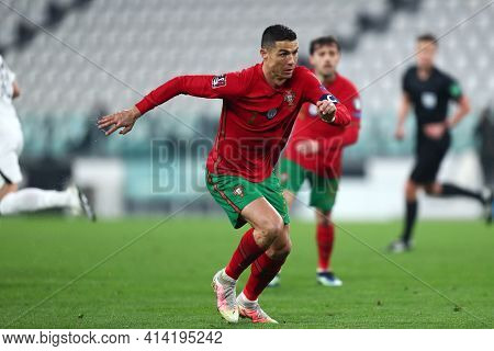Torino, 24th March 2021 . Cristiano Ronaldo Of Portugal  During The Fifa World Cup 2022 Qualifiers M