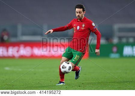 Torino, 24th March 2021 . Bernardo Silva Of Portugal  During The Fifa World Cup 2022 Qualifiers Matc