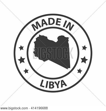 Made In Libya Icon. Stamp Made In With Country Map