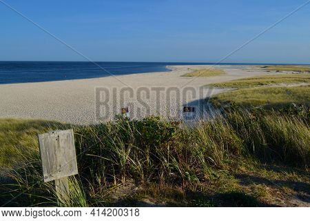 The Beach at Chatham Lighthouse, Cape Cod, Massachusetts