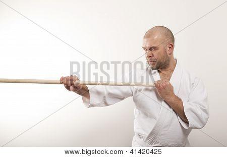 Aikido Man With A Stick