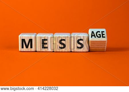 Make Your Mess Your Message Symbol. Turned Cubes And Changed The Word 'mess' To 'message'. Beautiful