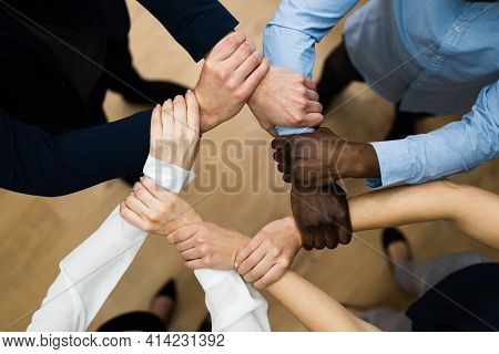 Group Of Business People Commitment And Support Concept