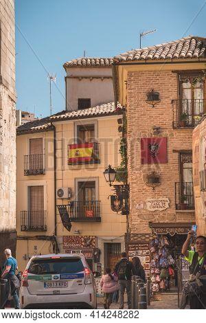 Vertical View Of An Old Street In Toledo Spain