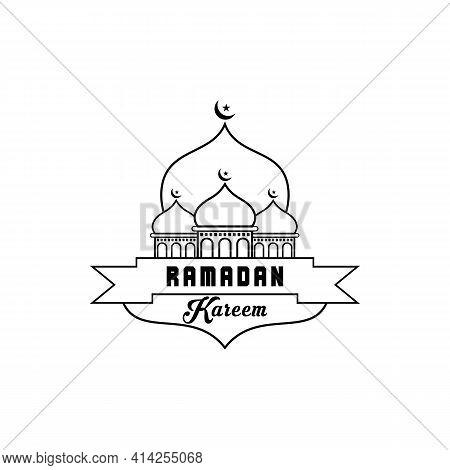 Simple Ramadan Icon Isolated On White Background. Ramadan Icon Line Outline. Ramadan Icon Simple Sig
