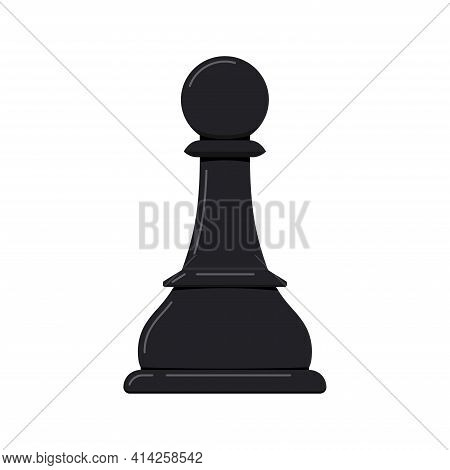 Pawn Chess Piece Vector Icon Isolated On White Background.