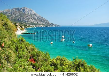 Village Brist in Dalmatia region in Croatia